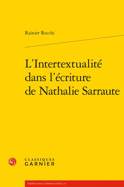 L'Intertextualité dans l'écriture de Nathalie Sarraute