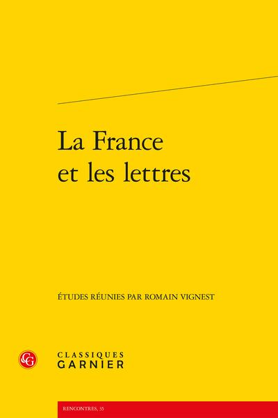 La France et les lettres