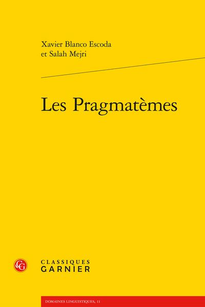 Les Pragmatèmes - Index des notions