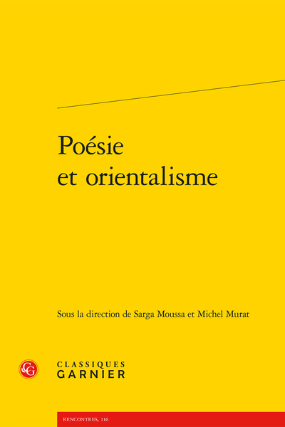 Poésie et orientalisme - Introduction