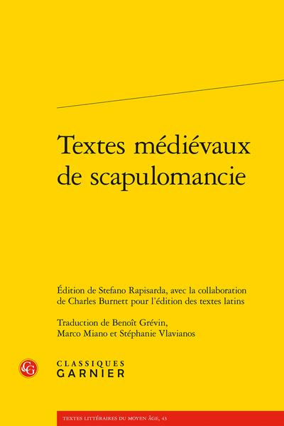 Textes médiévaux de scapulomancie - Table des matières