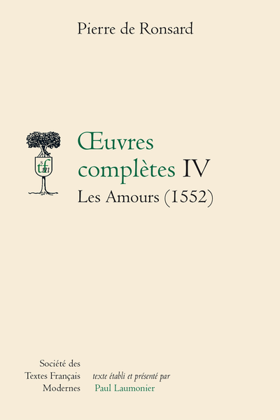 Tome IV - Les Amours (1552)