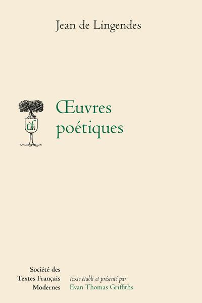 Œuvres poétiques - Appendice II. Notes