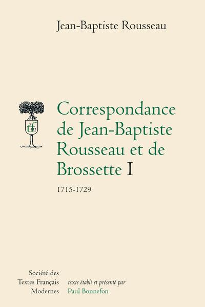 Correspondance avec Brossette