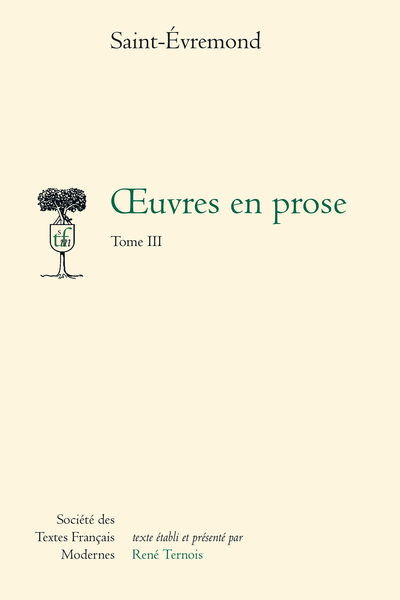 Œuvres en prose - Tome III