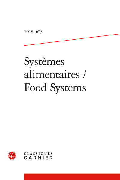 Systèmes alimentaires / Food Systems. 2018, n° 3. varia - Contents