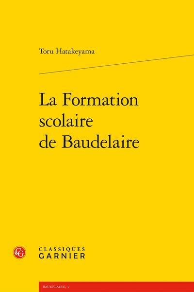 La Formation scolaire de Baudelaire