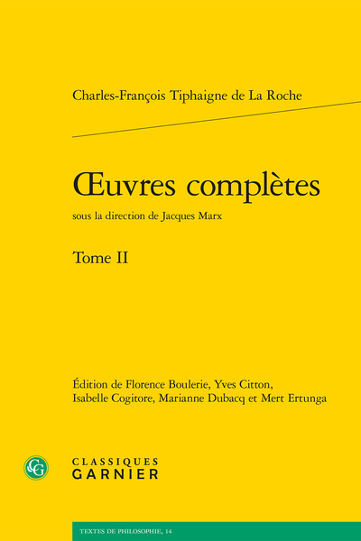 Œuvres complètes. Tome II - Index des noms de personnes et de lieux