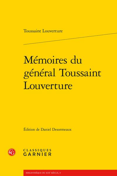 Mémoires du général Toussaint Louverture