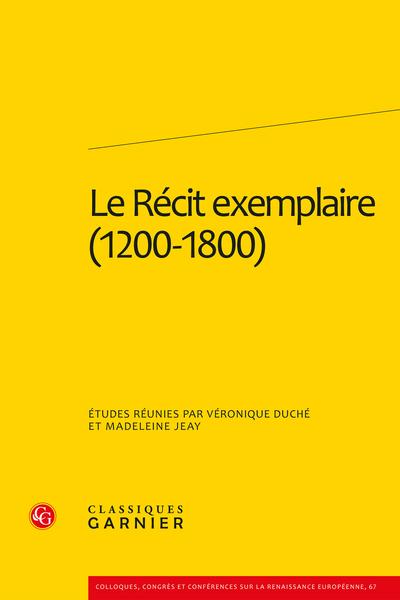 Le Récit exemplaire (1200-1800)