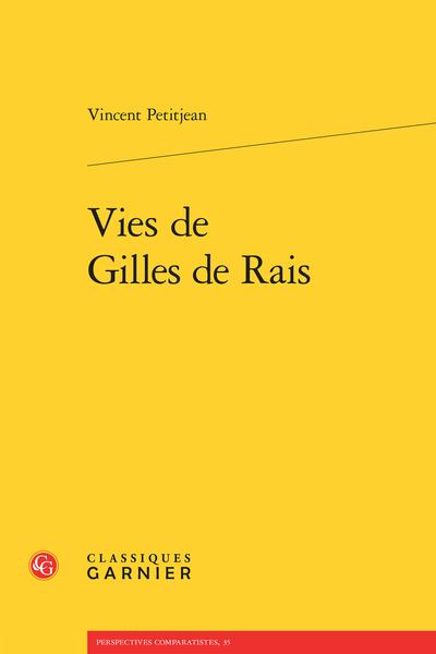 Vies de Gilles de Rais