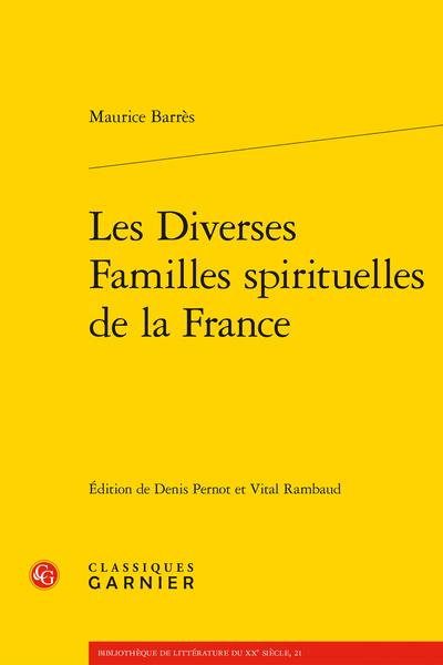 Les Diverses Familles spirituelles de la France