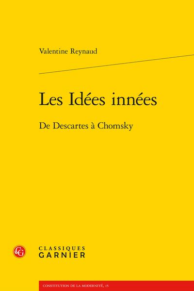 Les Idées innées. De Descartes à Chomsky