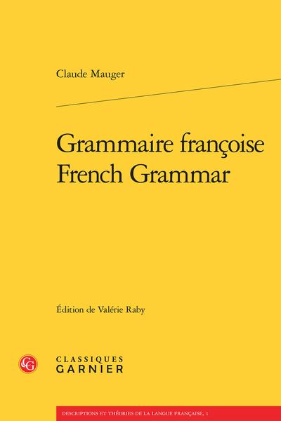 Grammaire françoise / French Grammar