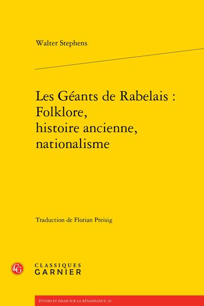 Les Géants de Rabelais : Folklore, histoire ancienne, nationalisme
