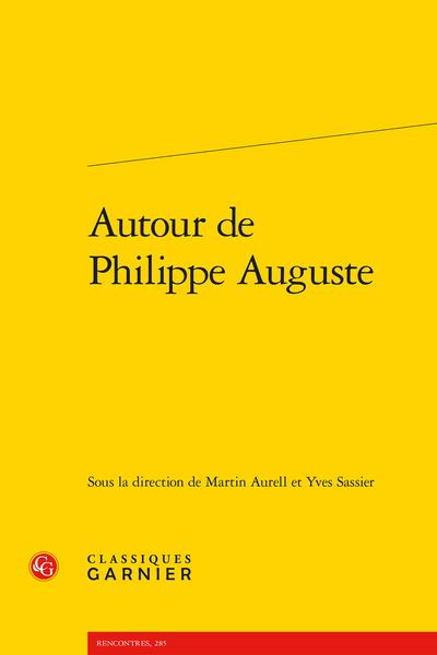 Autour de Philippe Auguste - Index